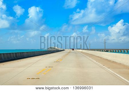 Florida Keys South Highway 1 scenic in Florida USA