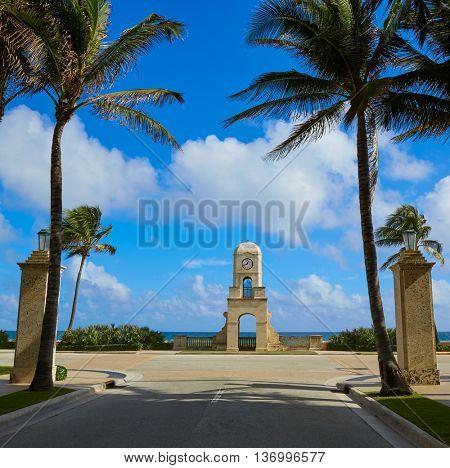 Palm Beach Worth Avenue clock tower Florida USA