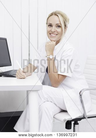 young professional female doctor in clinic