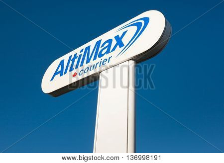 DARTMOUTH CANADA - JULY 03 2016: DARTMOUTH CANADA - JULY 03 2016: Altimax Courier is an Atlantic Canada based freight shipping service operating both ground and air delivery services.