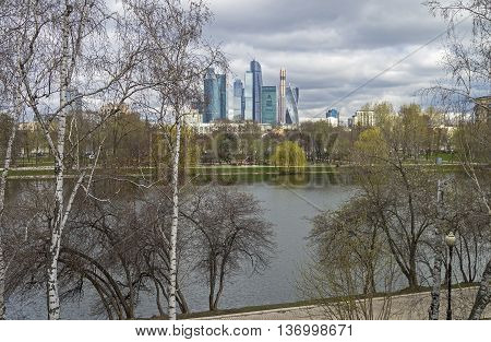 View of the Moscow International Business Center
