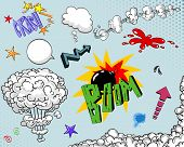 Постер, плакат: Комикс книга элементы двух