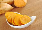 stock photo of lats  - Cooked sweet potato  - JPG