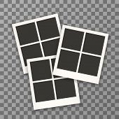 Постер, плакат: Set Of Retro Photo Frames For Document Photo Frame Isolated On A Background Photo Frame Mock Up P