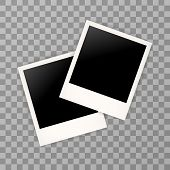Постер, плакат: Two Photo Frame Retro Photo Frame Isolated On A Background Photo Frame Mock Up Photo Frame Borde