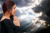Hispanic Latino Woman Praying