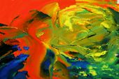 image of abstract painting  - abstract painting brushed representing the desert of the sahara - JPG