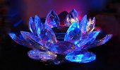 A Lilac-Blue Crystal Lotus