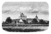 Постер, плакат: Le Chateau de Talcy Loir et Cher vintage engraved illustration Magasin Pittoresque 1861
