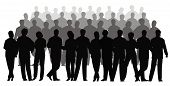 image of person silhouette  - black silhouette of the business people crowd - JPG
