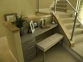 small office nook on the stairs