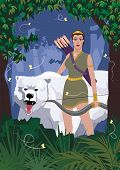 foto of artemis  - The Greek goddess of hunt - JPG
