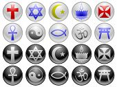 picture of ankh  - Ten religious symbols in two different styles - JPG