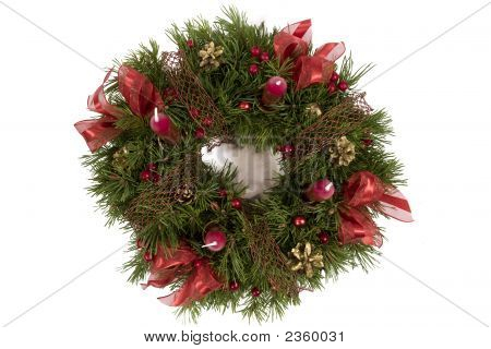 Advent Wreath Isolated On The White Background