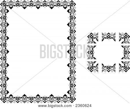 Art Deco Style Border Frame