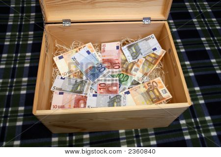 Wooden Box Of Money
