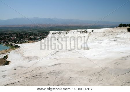 White rocks and travertines of Pamukkale