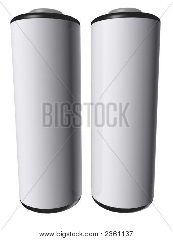 3D Aa Batterys Isolated