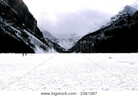 Lake Loiuse In Winter