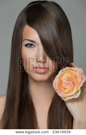 Studio Beauty Shot of Sensual Young Woman