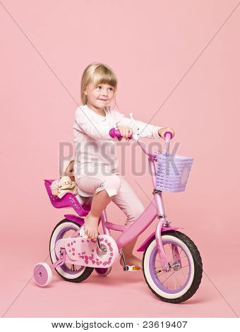 Girl On Her Bike