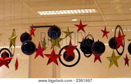 Christmas Decoration Hanging From The Ceiling