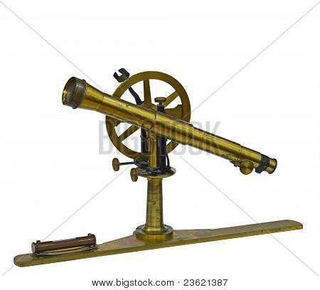 Antigo instrumento de medição telescópico
