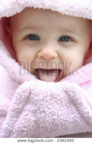 Cute Smiling Winter Baby