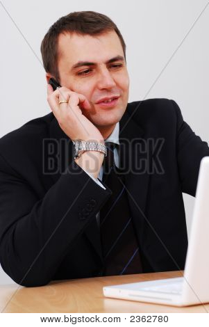 Entrepreneur Having Phone Conversation