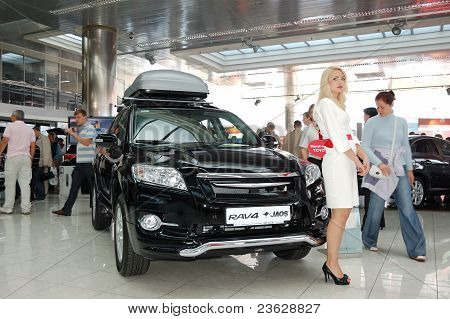 "Kiev - September 11:  Toyota Rav4 At Yearly Automotive-show ""capital Auto Show 2011"". September 11,"