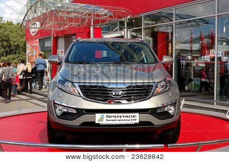 "Kiev - September 11: New Generation Of Kia Sportage At Yearly Automotive-show ""capital Auto Show 201"