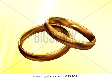 Wedding Rings 3D