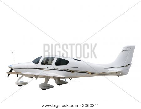 Isolated White Prop Plane