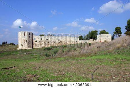 Binar Bashi Ottoman Fortress In Antipatris (Tel-Afek) Israel
