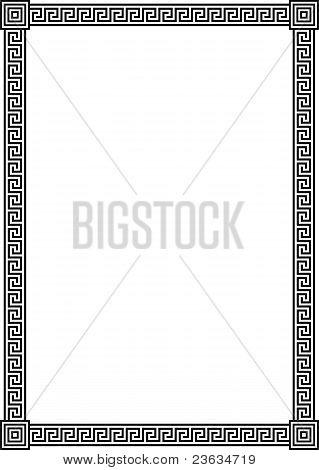Quadro com padrão de Meandro grega antiga