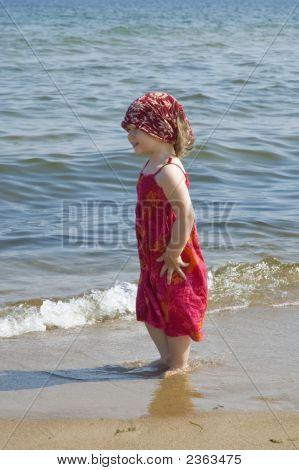 Sweet Girl On The Beach