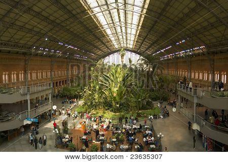 Green house inside Atocha Train Station