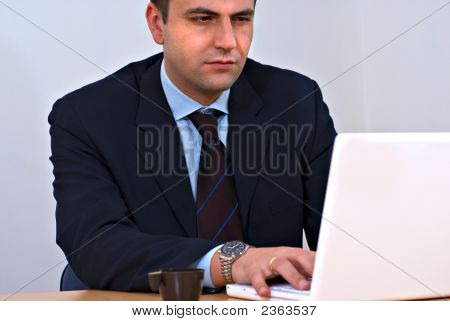 Entrepreneur Working On His Laptop