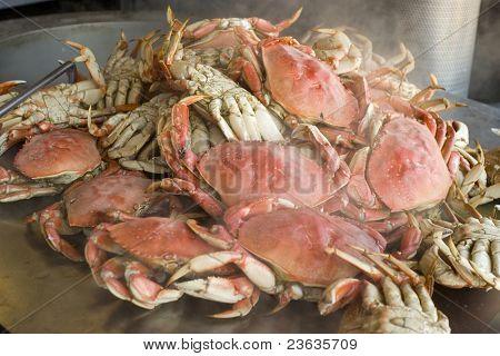 Bowling crab in fisherman Warf San Francisco