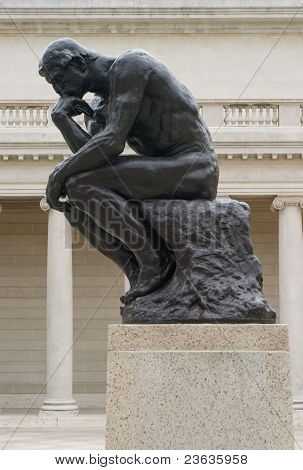 Rodin's thinker from the side