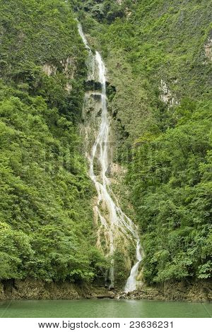 Waterfall in Sumidero Canyon, Chiapas Mexico