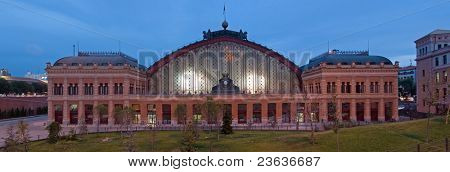 atocha train station at night