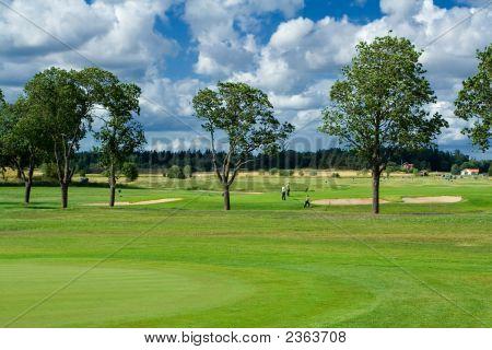 Campo de golfe na Suécia