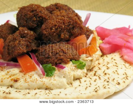 Falafels And Pita Bread