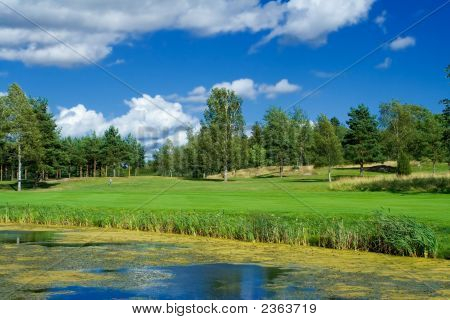 Golf Course In Sweden In July