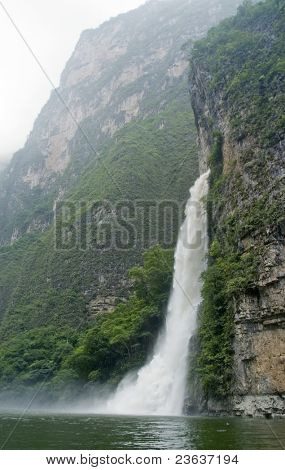 Waterfall in Sumidero Canyon