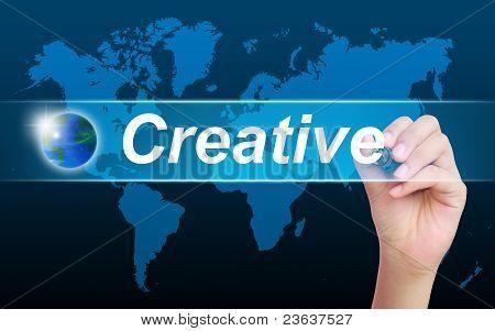 women hand writing creative