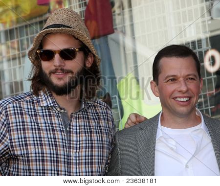 LOS ANGELES - SEP 19:  Ashton Kutcher, Jon Cryer at the Jon Cryer Hollywood Walk of Fame Star Ceremony at Hollywood Walk of Fame on September 19, 2011 in Los Angeles, CA