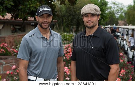 TARZANA, CA - APRIL 18: Stephen Bishop(L) and Scott Elrod(R)arrives at the 8th annual