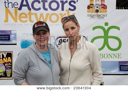 TARZANA, CA - APRIL 18: Jessica Kill (L) and Countess Michelle Czernin von Chudenitz (R)arrives at t